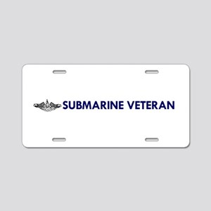 Submarine Veteran Dolphins Aluminum License Plate