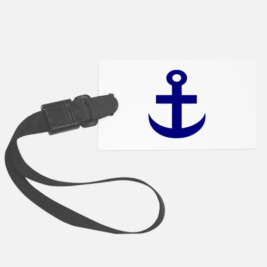 Anchor or Mariners Cross Blue Luggage Tag