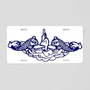 Submarine Dolphins Aluminum License Plate
