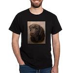 Chocolate Lab Portrait Painting Dark T-Shirt