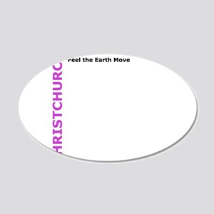 Christchurch: Feel the Earth Move 20x12 Oval Wall
