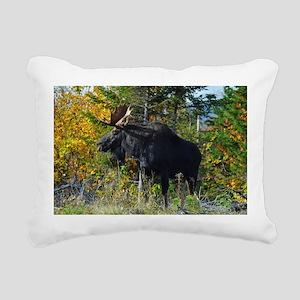 Bull in ditch Rectangular Canvas Pillow