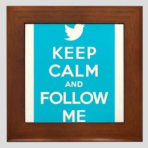 Keep Calm And Follow Me Framed Tile