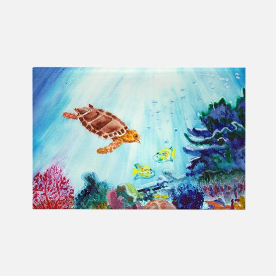 Coral Reef Rectangle Magnet