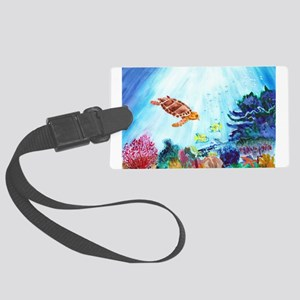 Coral Reef Large Luggage Tag