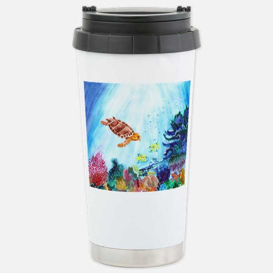 Coral Reef Stainless Steel Travel Mug