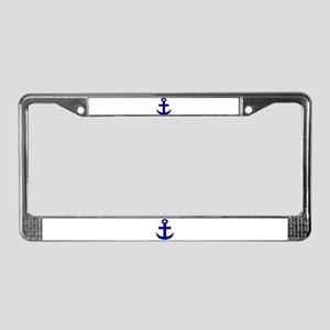 Anchor or Mariners Cross Blue License Plate Frame