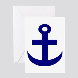 Anchor or Mariners Cross Blue Greeting Card