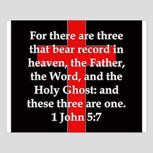 1 John 5-7 Small Poster