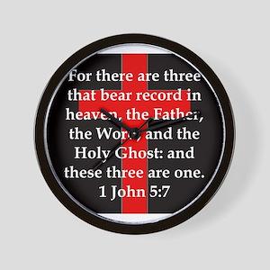 1 John 5-7 Wall Clock