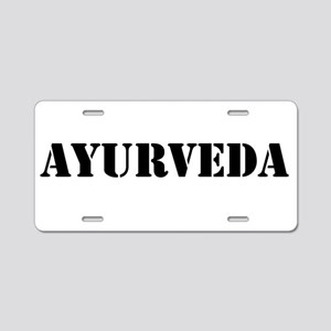 Ayurveda Aluminum License Plate