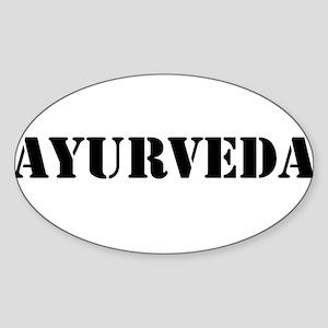 Ayurveda Sticker (Oval)