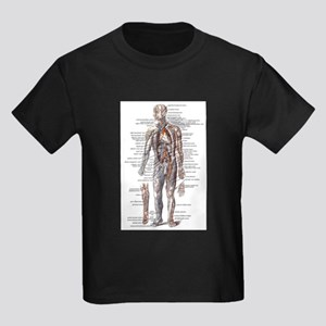 Anatomy of the Human Body Kids Dark T-Shirt