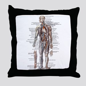 Anatomy of the Human Body Throw Pillow