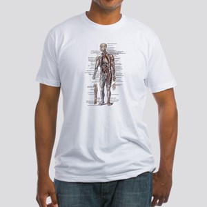 Anatomy of the Human Body Fitted T-Shirt
