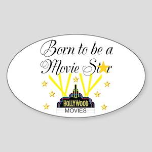MOVIE STAR Sticker (Oval)