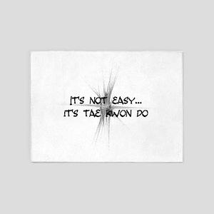 It's Not Easy - Taekwondo 5'x7'Area Rug