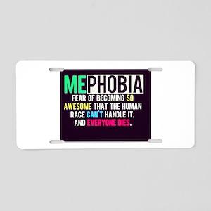 Mephobia Aluminum License Plate