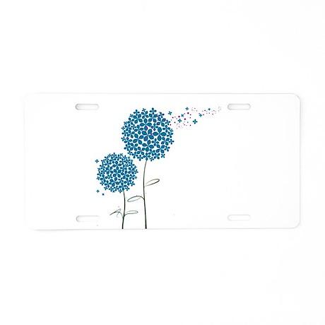 Wishing Weeds Aluminum License Plate