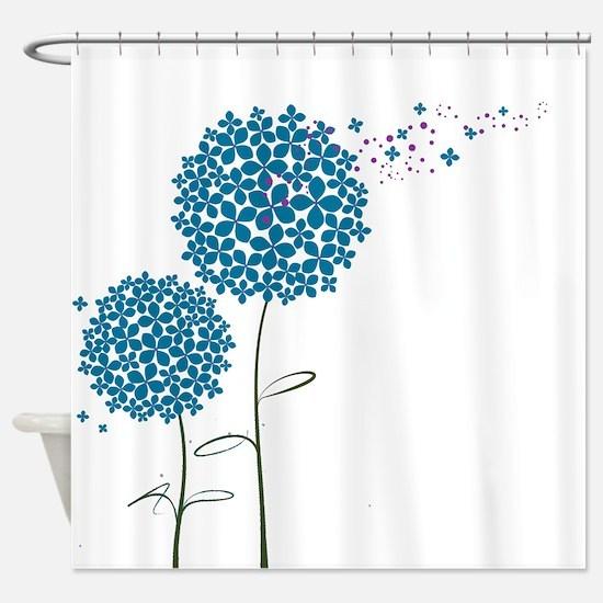 Wishing Weeds Shower Curtain