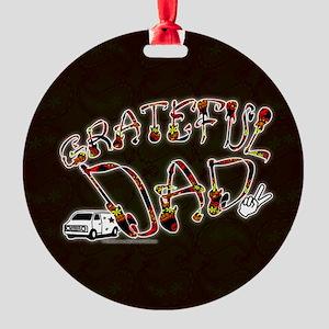 Grateful Dad - Round Ornament