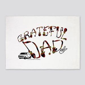 Grateful Dad - 5'x7'Area Rug