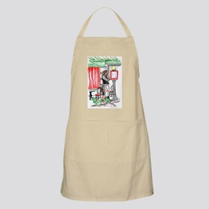 French waiter watercolor Apron