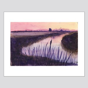 Loxahatchee at Sunset Small Poster