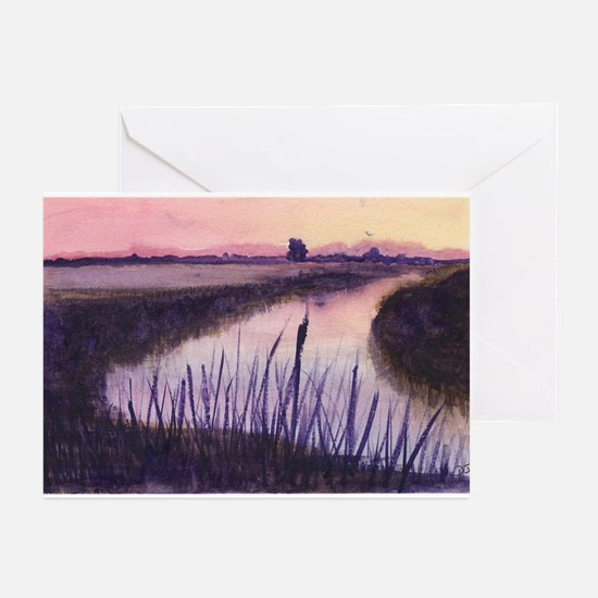 Loxahatchee at Sunset Greeting Cards (Pk of 20)