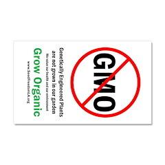 "GMO-free Zone garden sign, 12"" x 20"""