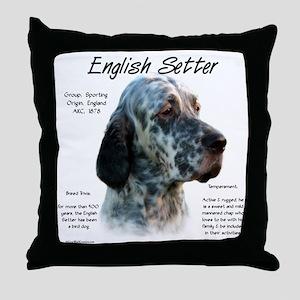 English Setter Throw Pillow