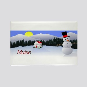 Winter Wonderland - Maine Rectangle Magnet