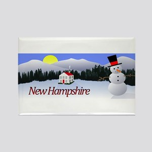 Winter Wonderland - New Hampshire Rectangle Magnet