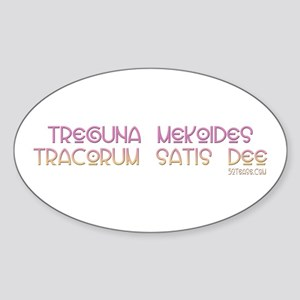 Famous Witch Spell Oval Sticker
