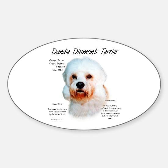 Dandie Dinmont Sticker (Oval)