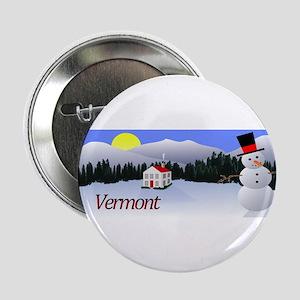 """Winter Wonderland - Vermont 2.25"""" Button"""