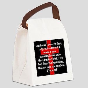 2 John 1-5 Canvas Lunch Bag