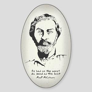 Walt Whitman Sticker (Oval)