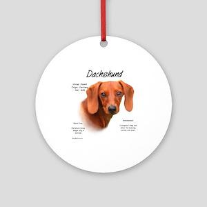 Dachshund Round Ornament