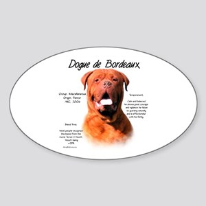 Dogue de Bordeaux Sticker (Oval)