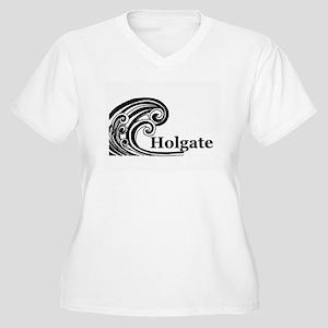 Waves Over Holgate Women's Plus Size V-Neck T-Shir