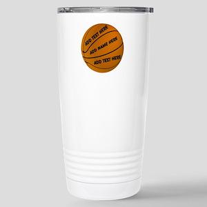 Basketball 16 oz Stainless Steel Travel Mug