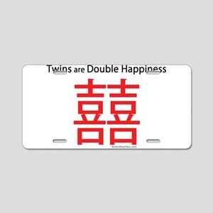 Twins are Double Happiness Aluminum License Plate