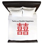 Twins are Double Happiness King Duvet