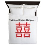 Twins are Double Happiness Queen Duvet