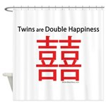 Twins are Double Happiness Shower Curtain