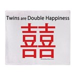 Twins are Double Happiness Throw Blanket