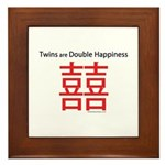 Twins are Double Happiness Framed Tile