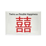 Twins are Double Happiness Rectangle Magnet (10 pa