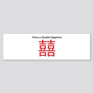 Twins are Double Happiness Sticker (Bumper)